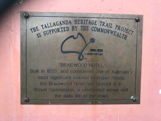 Braidwood, Australia: Tallaganda Heritage Trail Project Sign