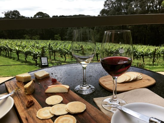 Red Hill, Australia: Byo bread and cheese, great wines and spectacular views.