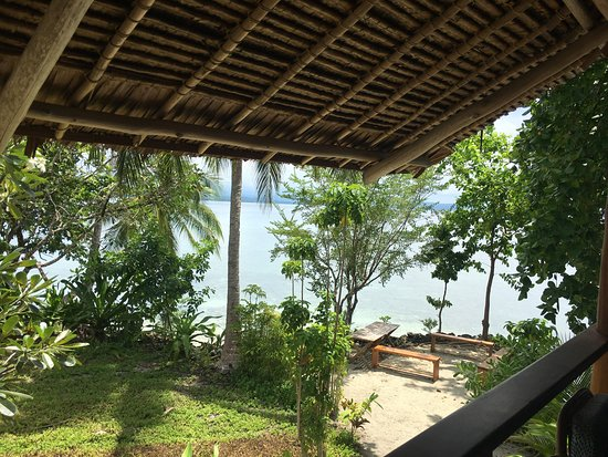 Uepi, Solomon Islands: View from the dining area/bar