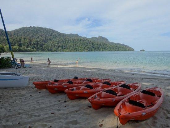 熱帯雨林とビーチ囲まれた素敵なホテル