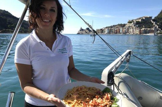 Cinque Terre Boat Tour Wine & Food