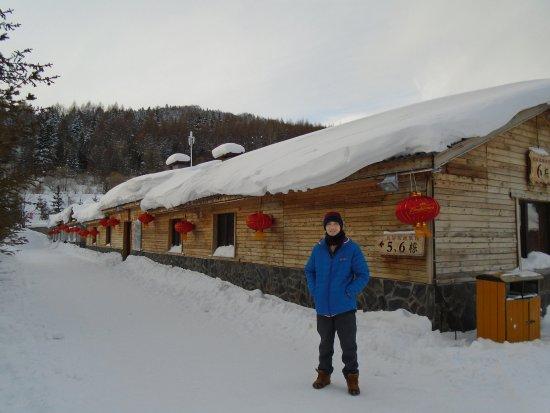 Hailin, Chine : Snow town
