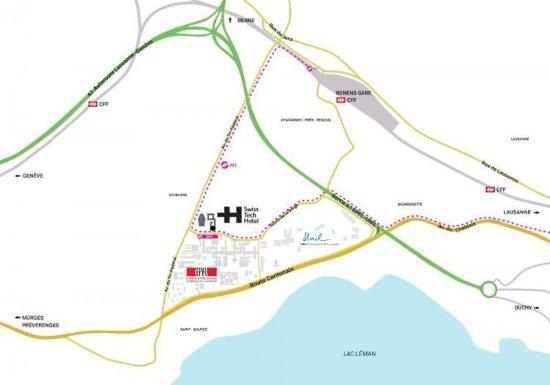 Ecublens, Sveits: Map