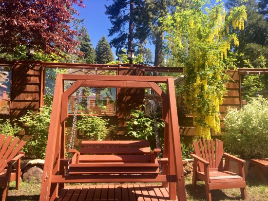 Tahoe Vista, CA: Lush Gardens at Cedar Glen Lodge!