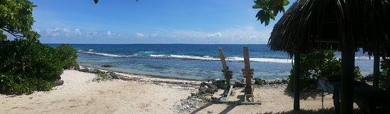 Moorea, Polinesia Prancis: Massage en bord de lagon