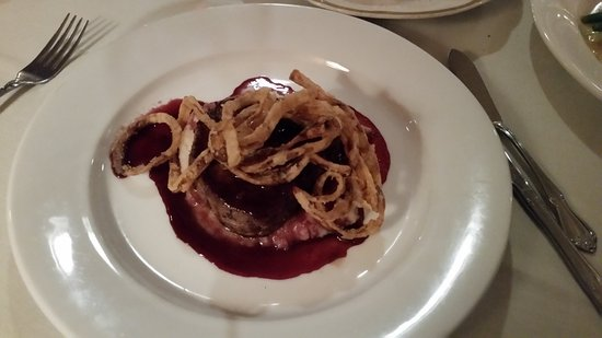 Le Bistro: Filet mignon, with crunchy onions, OMG to the crunchy onions.