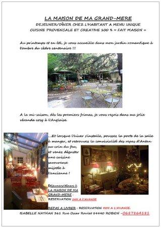 Robion, Франция: Fonctionnement de La maison de ma grand mère