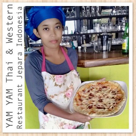 Happy Sunday, come creat your pizza only @YAM YAM Thai & Reataurant Jepara Indonesia