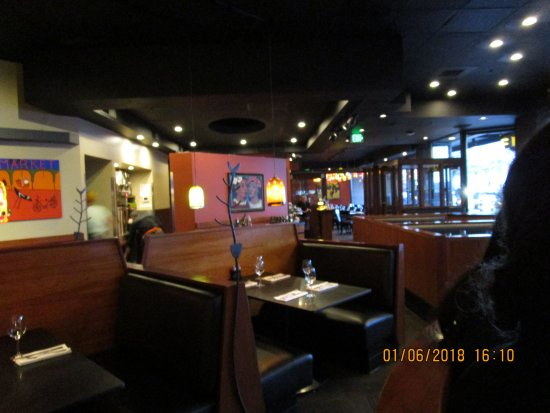 Interior of restaurant looking from the bar picture