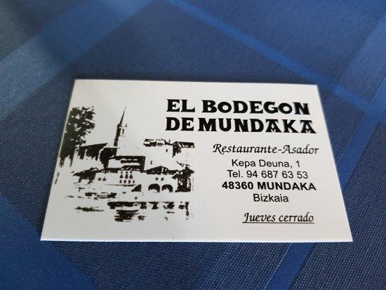 Asador el Bodegon: La carte des lieux...