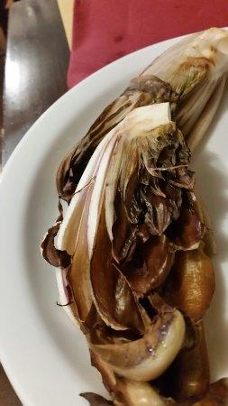 Oggi a pranzo baccalà polenta, radicchio trevigiano alla piastra. Osteria Luana Top !