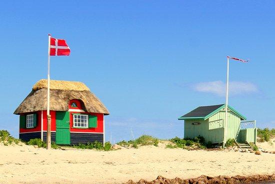 Marstal, Dinamarca: Flotte badehuse på Eriks Hale
