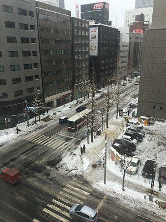 Richmond Hotel Sapporo Ekimae : 下了雪黃葉落