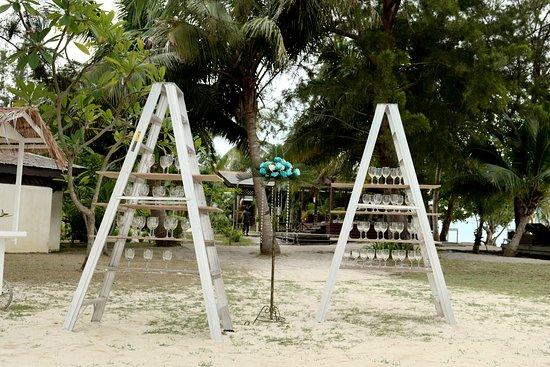 Semporna District, Malaysia: Decoration of the Beach Wedding 1
