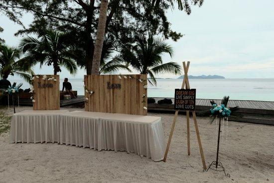 Semporna District, Malaysia: Decoration of the Beach Wedding 2