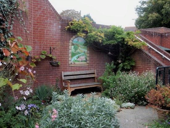 Halesworth Library: A cozy spot to relax with (or without) a book and a cuppa.
