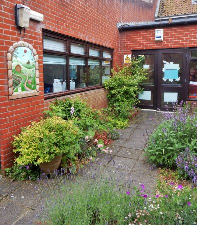 Halesworth Library: Another view of the garden.