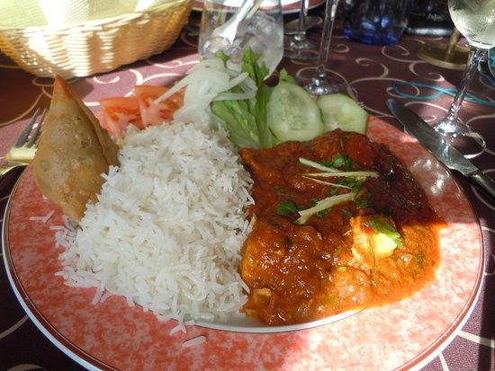 Sabor da India: le menu à 8,95€ (poulet au curry, samoussa, salade)
