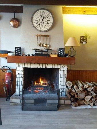 Velluire, França: La cheminé dans la salle donne une ambiance très cosy :)