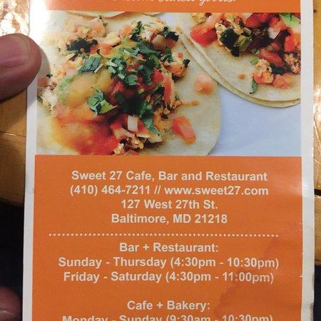Sweet 27 Bakery And Cafe Baltimore Restaurant Reviews Phone Number Photos Tripadvisor