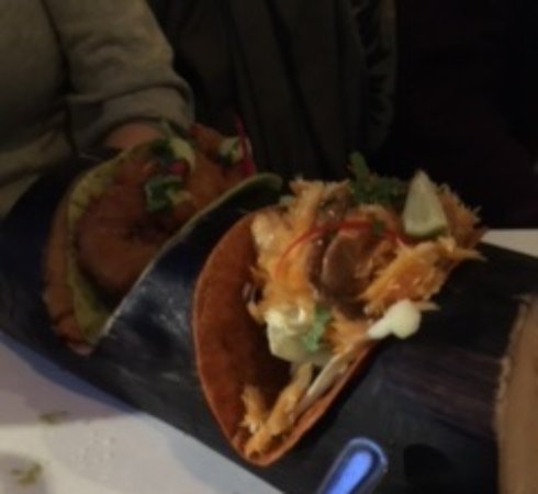 Harry Pepper: Taco with clip fish / scampi