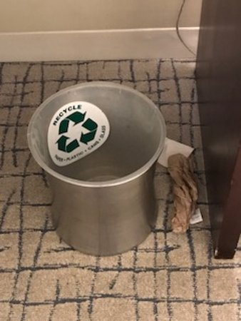 Crowne Plaza Times Square Manhattan: after housekeeping left, garbage was still on the floor....