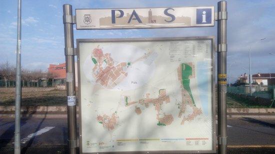 Pals, İspanya: mapa del pueblo