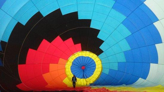 Guasca, Colombia: Inflando el globo