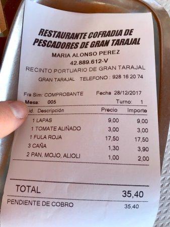 Gran Tarajal, Spania: Restaurante La Cofradia