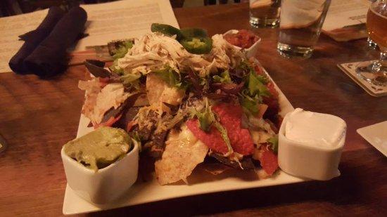 Saint Johnsbury, VT: Chicken Nachos with added Gauc. Amazing.