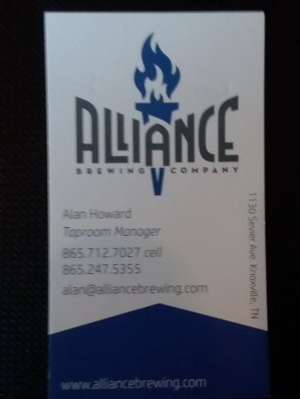 Alliance brewing company knoxville 2018 all you need to know alliance brewing company reheart Gallery