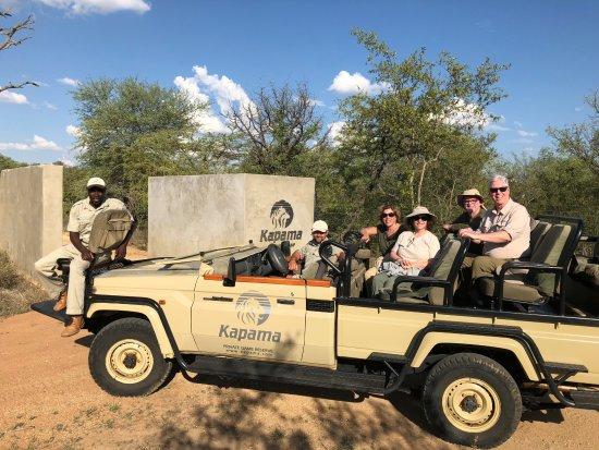 Kapama Southern Camp: Going out on safari