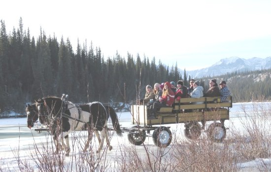 Hinton, Canada: Wagon Rides during the winter months.
