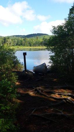 Washington, New Hampshire: canoe-in site at Pillsbury State Park