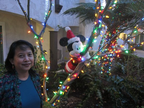 Laguna Hills, CA: Santa Mickey decoration
