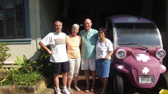 Honoka'a Club: Moby, Kathy, Jorri, and Anelle