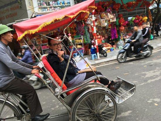 Hidden Hanoi: Last leg of Old Quarter tour on cyclos