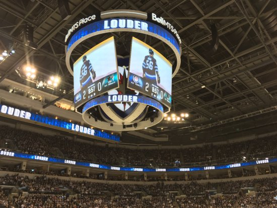 Centre Ice Scoreboard - Picture of Bell MTS Place 1ee8bfe5d