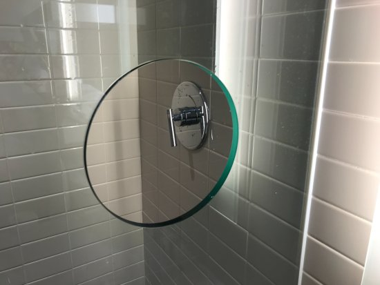 The Verb Hotel: A Cut Out In The Glass Shower Door To Turn On