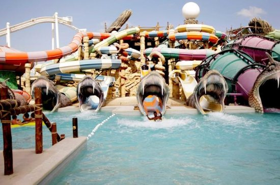 Dubai Yas Waterworld and Ferrari...