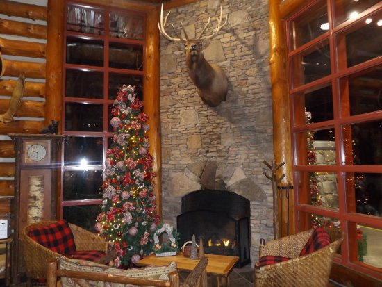 Bearskin Lodge on the River Hotel: Cute and Cozy Lobby