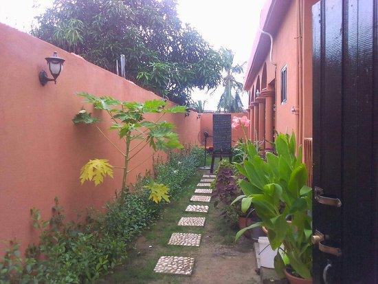 Baguida, Того: Entrée de l'espace climatisé