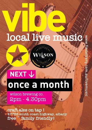Albany, Australia: Th Vibe @ WBC every month local live music