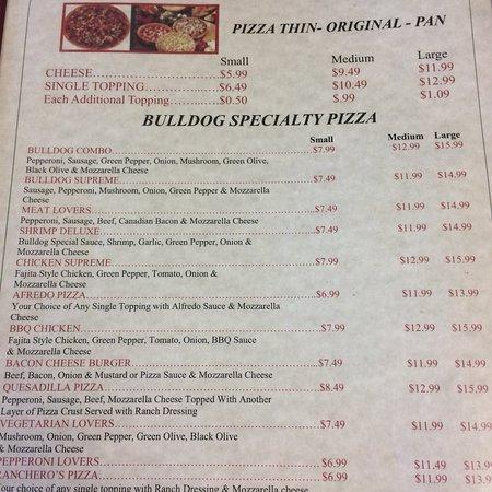 Jefferson, TX: Bulldogs Pizza