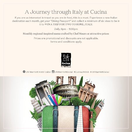 Cucina dubaj recenze restaurace tripadvisor for Avventura journeys in italian cuisine