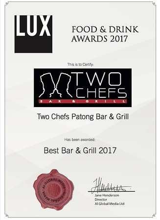 Two Chefs - Karon Beach: LUX Award 2017