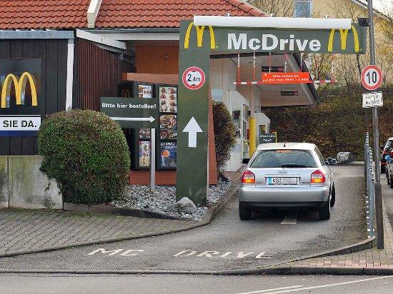 Rund um die Uhr geöffnet: Der McDrive am McDonald's in Diemelstadt.
