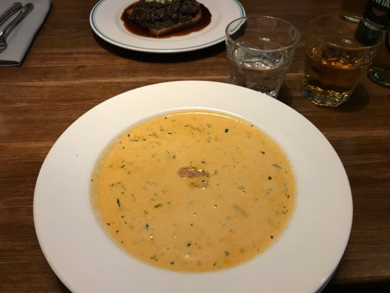 Ed Red Steakhouse Cod And White Sausage Soup With Pepper