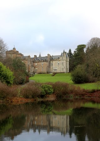 Ballantrae, UK : The castle, taken from the garden