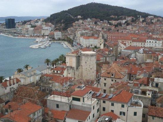 Riva Harbor: Riva from the Bell Tower Split